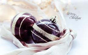Картинка шары, узор, игрушки, Новый Год, Рождество, золотой, праздники, Merry Christmas, елочные