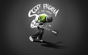 Обои гитара, пацан, скот пилигрим