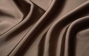 Картинка текстура, шелк, ткань, коричневый, складки