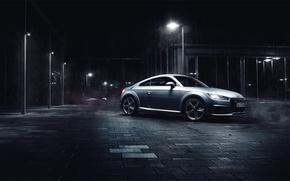 Картинка Audi, night, silvery