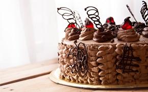 Обои торт, еда, фон