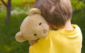 Обои грусть, дети, детство, одиночество, ребенок, Мишка, sad, sadness, child, childhood, children, lonely, грустно, Teddy bear, ...