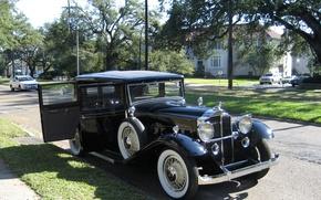 Картинка фото, Черный, Ретро, Автомобиль, 1932, Металлик, Packard 1