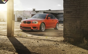 Картинка машина, авто, обои, BMW, Vorsteiner, передок, 1 series, E82