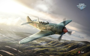 Картинка истребитель, СССР, Wargaming.net, Ла-5, Warld of Warplanes