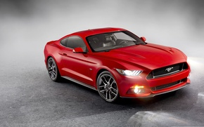 Картинка Mustang, Ford, Red, 2015, Ford Mustang 2015, Mustang Red, Ford Red