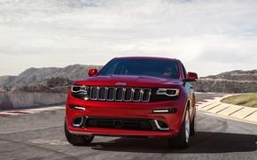 Картинка машина, небо, передок, front, SRT, Jeep, Grand Cherokee