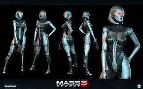 Картинка робот, EDI, Сузи, Mass Effect3