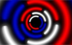 Картинка белый, синий, красный, круг, red, white, россия, blue, russia, krug, abstractions