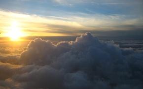 Картинка небо, солнце, облака, восход