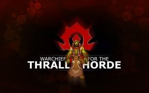 Картинка герб, орк, wow, орда, world of warcraft, вождь, horde, ork, тралл, thrall, warchief