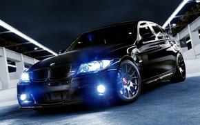 Картинка авто, bmw, черная