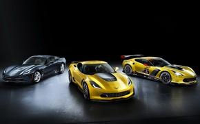 Обои chevrolet , corvette, stingray, z06, c7.r gt2, шевроле