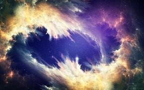Картинка космос, красота, Танец, небулы