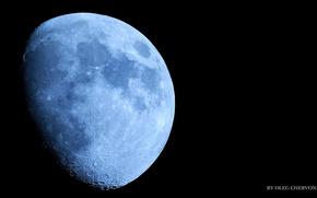 Картинка космос, пейзаж, Луна