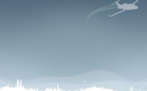 Обои минимализм, вектор, Самолет