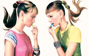 Картинка портрет, макияж, профиль, Teen Vogue, Sebastian Kim
