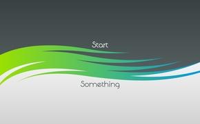 Картинка абстракция, abstract, слова, minimalism, выражение, style минимализм, start something