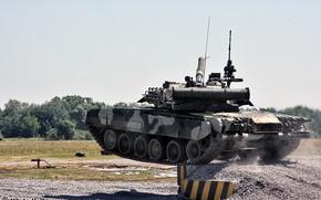 Обои Россия, полигон, т-80 УД, танк, военная техника