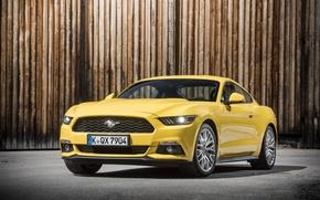 Картинка купе, Mustang, Ford, мустанг, форд, 2015, EU-spec