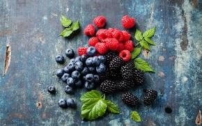 Картинка ягоды, малина, фото, еда, черника, ежевика, голубика