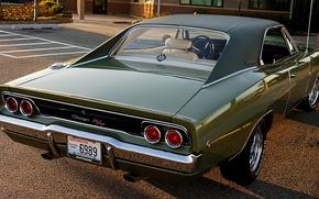 Обои стиль, ретро, Dodge, 1968, классика, Charger