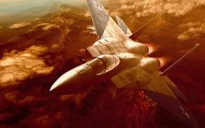 Картинка полет, самолет, истребитель