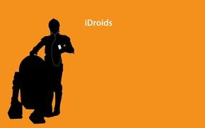 Картинка ipod, дроиды, наушники, star wars
