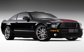 Обои черный, мускулкар, Ford Shelby Cobra