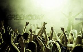 Обои музыка, green day, концерт, группа