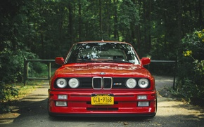 Картинка бмв, BMW, red, красная, tuning, e30, 3 серия