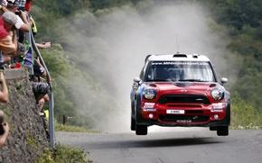 Картинка Красный, Скорость, Люди, Red, Mini Cooper, WRC, Rally, MINI, Мини Купер