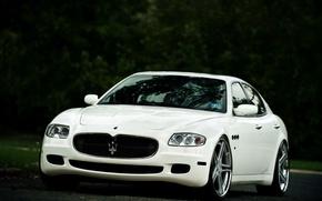 Картинка Maserati, Quattroporte, Передок