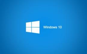 Картинка синий, текстура, логотип, windows