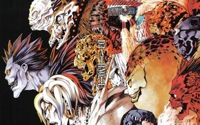 Картинка Арт, Death Note, Тетрадь смерти, Лайт Ягами, Рэм, Синигами, Shinigami, Light Yagami, Рюк, Ryuk, Rem, …