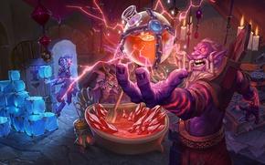 Картинка семья, арт, кристаллы, Кабал, зелье, family, клан, Hearthstone: Heroes of Warcraft, Хартстоун, новое дополнение, new …