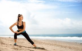 Картинка beach, workout, stretching