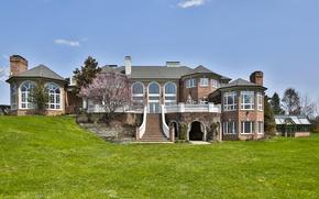 Обои дом, лестница, вилла, архитектура, особняк, дизайн