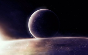 Картинка космос, свет, планеты, space, planets