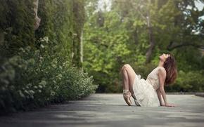 Обои девушка, танец, балерина