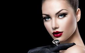 Картинка взгляд, девушка, макияж, кольцо, Анна Субботина