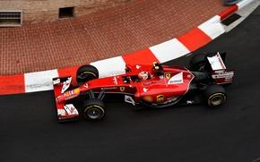 Картинка Ferrari, Formula 1, Kimi Raikkonen, Monte Carlo, 2014, F14T