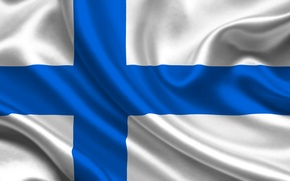 Картинка Флаг, Текстура, Финляндия, Flag, Finland, Suomi, Финляндская Республика, Суоми
