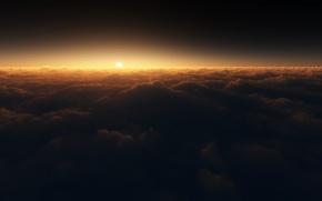 Обои солнце, shifted reality, облака, spectral