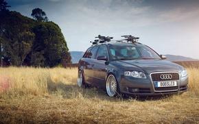 Картинка серый, Audi, ауди, grey, tuning, универсал