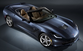 Обои chevrolet, corvette, stingray, convertible, c7, car, supercar