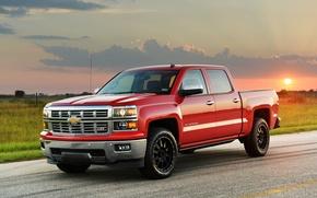 Картинка Chevrolet, шевроле, Hennessey, Silverado, 2014, HPE550, сильверадо