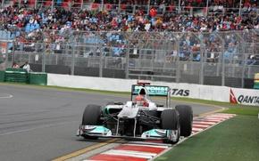 Картинка Мерседес, Австралия, формула 1, formula 1, Mercedes GP, 2011, Шумахер, Michael Schumacher