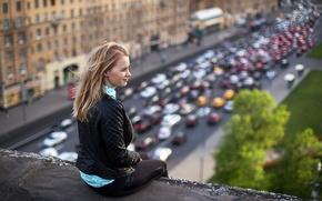 Картинка крыша, Москва, Елена, боке