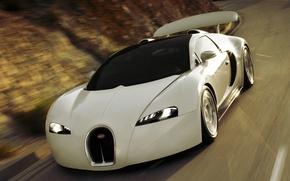 Картинка bugatti, white, new